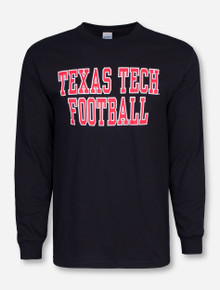 Texas Tech Football Stack on Black Long Sleeve