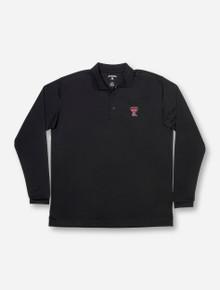 """Antigua Texas Tech """"Exceed"""" Black Long Sleeve Polo"""