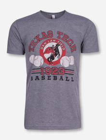 Texas Tech 1923 Baseball on Heather Grey T-Shirt