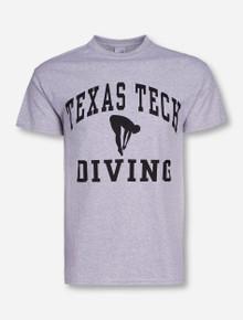 Texas Tech Diving Heather Grey T-Shirt