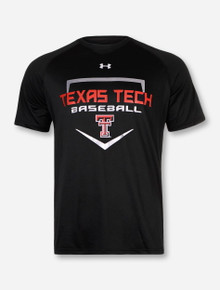 Under Armour Texas Tech Baseball Home Plate on Black T-Shirt