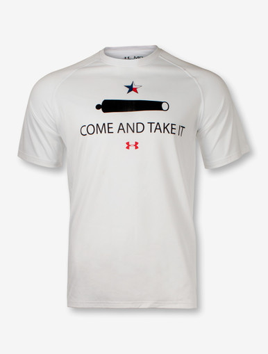 Under armour texas tech red raiders come take it white t for Bulk under armour shirts