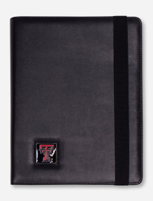Texas Tech Double T on Black Leather iPad Case