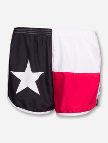 Texas Flag Red, White & Black Shorts - Texas Tech