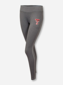 Under Armour Texas Tech Double T on Heather Charcoal Yoga Pants