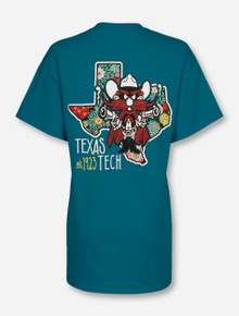 Texas Tech Raider Red Floral State T-Shirt