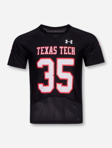 Under Armour Texas Tech Throwback #35 YOUTH Black Jersey