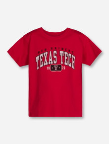 Texas Tech Arch with Box YOUTH Red T-Shirt