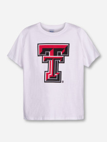 Texas Tech Large Double T on YOUTH White T-Shirt