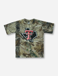 Texas Tech Lone Star Pride on YOUTH RealTree Camo T-Shirt