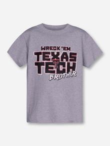 Texas Tech Wreck 'Em Brother YOUTH Grey T-Shirt