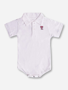 Creative Knitwear Texas Tech Double T on INFANT Polo Onesie