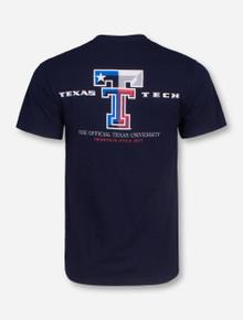 Texas Flag Double T T-Shirt - Texas Tech