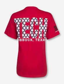 Lubbock, TX TECH in Lattice T-Shirt