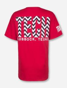 Lubbock, TX TECH in Chevron T-Shirt