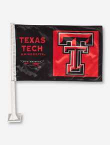 Texas Tech Double T Red Car Flag