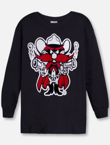 Texas Tech Raider Red on YOUTH Long Sleeve