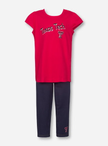 Arena Texas Tech with Double T on Red TODDLER Shirt and Pants Set