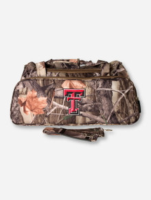 Logo Texas Tech Double T on Camo Gym Bag