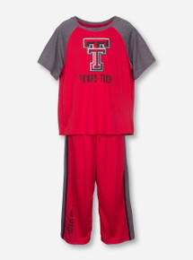 Arena Texas Tech Scribble on Red TODDLER Shirt and Pants Set