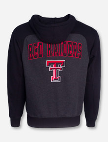 Arena Blocked Texas Tech on Charcoal and Black Hooded Jacket