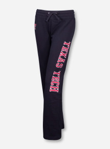 Arena Vertical Blocked Texas Tech on Black Women's Sweatpants