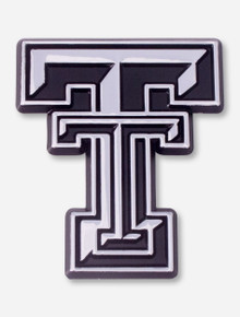 Texas Tech Double T Silver Car Emblem