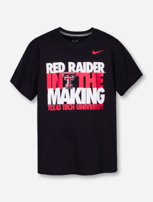 """Nike Texas Tech """"Red Raider in the Making"""" on YOUTH Black T-Shirt"""