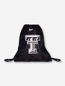 Nike Texas Tech Double T on Black Drawstring Backpack
