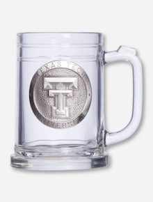 Texas Tech Heritage Pewter Double T Emblem on Beer Stein