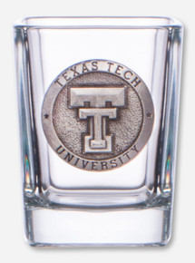 Heritage Pewter Texas Tech Double T Emblem on Square Shot Glass