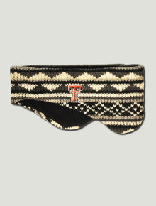 Texas Tech Double T on Black & Grey Ear Warmer