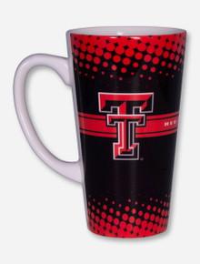 Texas Tech Double T on Halftone Pattern Black & Red Latte Mug