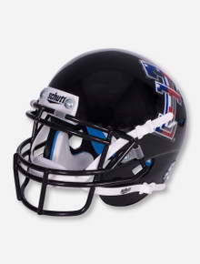 Schutt Limited Edition Flag Double T on Black Mini Helmet - Texas Tech