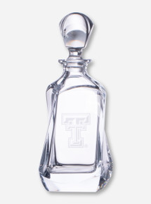 Texas Tech Krystof Etched Swivel Crystal Liquor Decanter