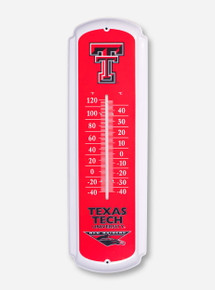 Large Texas Tech Red & White Temperature Gauge
