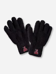 Texas Tech Double T on Fuzzy Gloves