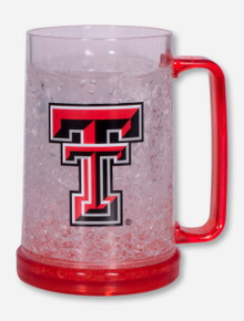 Texas Tech Double T on Red Color Block Freezer Mug
