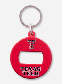 Texas Tech Bottle Opener Red Keychain