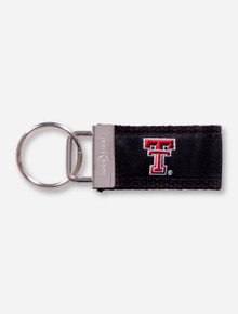 Texas Tech Double T Black Cloth Keychain