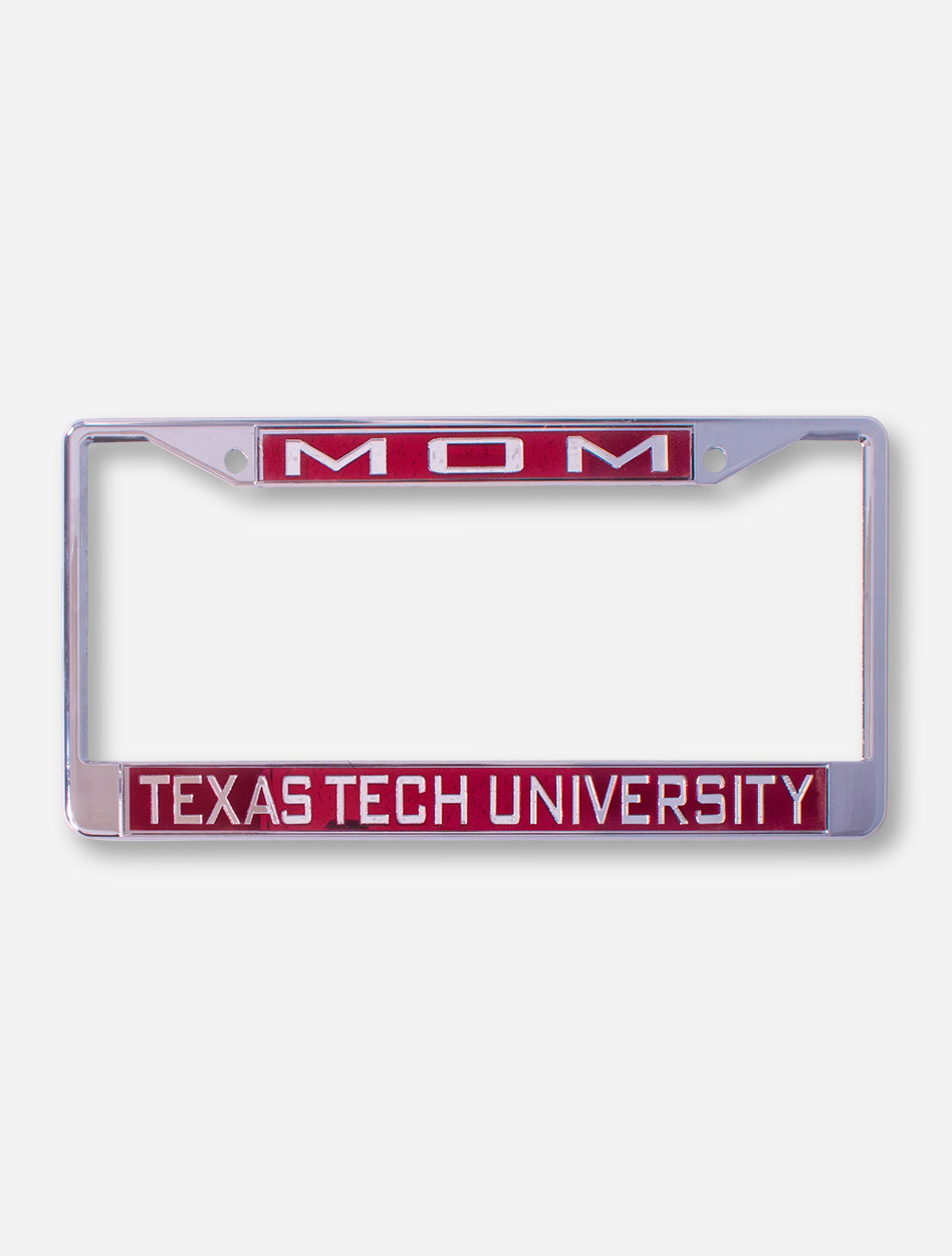 Mom Texas Tech University On Red License Plate Frame Red