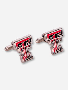Texas Tech Double T Silver Cuff Links