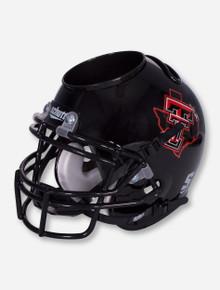 Texas Tech Schutt Lone Star Pride on Black Helmet Caddy