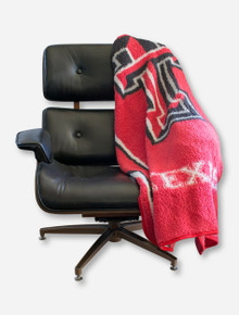 NW Double T & Texas Tech on Red Sherpa Throw
