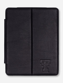 Texas Tech Double T on Black Leather iPad Cover