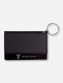 Texas Tech Metal Strip Leather ID Holder
