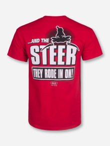 """And the Steer They Rode In On"" Beat Texas T-Shirt - Texas Tech"