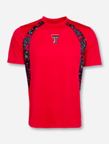 Arena Texas Tech Double T and Digital Panels on Red T-Shirt