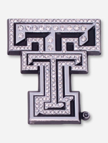Texas Tech Crystal Chrome Double T Car Emblem