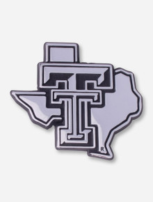 Texas Tech Chrome Lone Star Pride Car Emblem